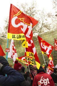 Les membres de la CGT ont répondu nombreux à l'appel de grève du 5 Décembre