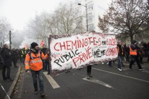 Les cheminots ont répondu nombreux à l'appel de grève du 5 Décembre