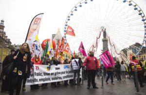 Environ 15 000 grévistes auraient participé à la grève du 5 Décembre 2019 à Lille