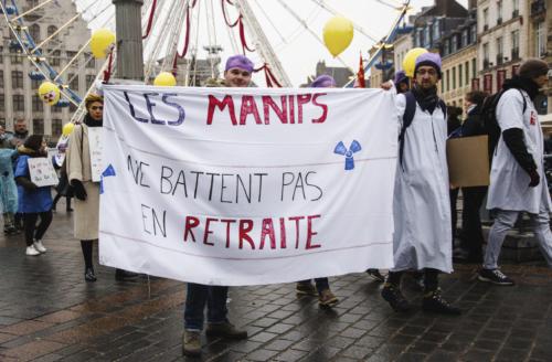 Des professionnels de multiples secteurs étaient dans les rues de Lille : c'était le cas des manipulateurs radio