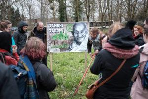 """Le """"Gandhi Garden"""" est né."""