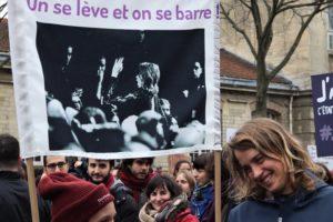 Présente dans le cortège, Adèle Haenel, devenue un symbole de la lutte contre les violences sexuelles ©Lisa Mauny