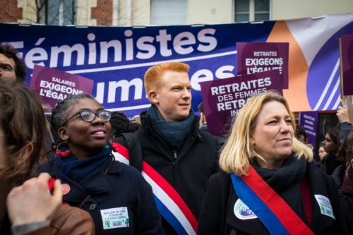 Des personnalités sont présentes à la marche, comme Adrien Quatennens, coordinateur de la France Insoumise. ©Marthe Dolphin