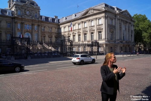 Violette Spillebout tenait un point presse après avoir déposé sa liste pour deuxième tour des élections municipales à Lille Lille 29 mai 2020 10 scaled