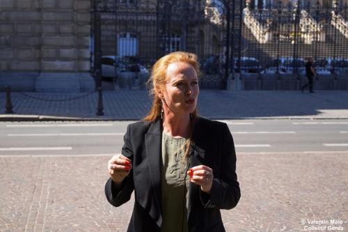 Violette Spillebout tenait un point presse après avoir déposé sa liste pour deuxième tour des élections municipales à Lille Lille 29 mai 2020 11 scaled
