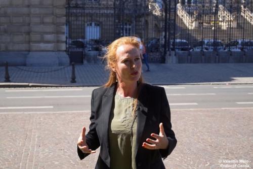 Violette Spillebout tenait un point presse après avoir déposé sa liste pour deuxième tour des élections municipales à Lille Lille 29 mai 2020 12 scaled