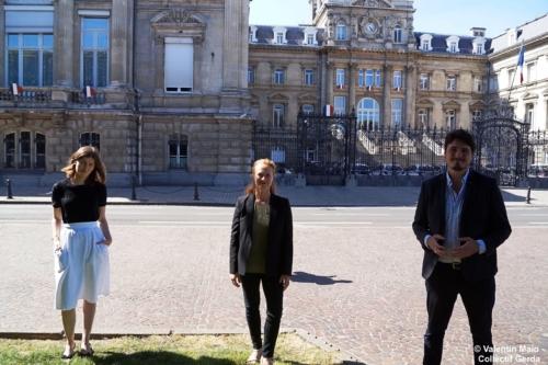 Violette Spillebout tenait un point presse après avoir déposé sa liste pour deuxième tour des élections municipales à Lille Lille 29 mai 2020 13 scaled