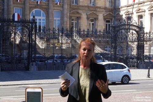 Violette Spillebout tenait un point presse après avoir déposé sa liste pour deuxième tour des élections municipales à Lille Lille 29 mai 2020 2 scaled