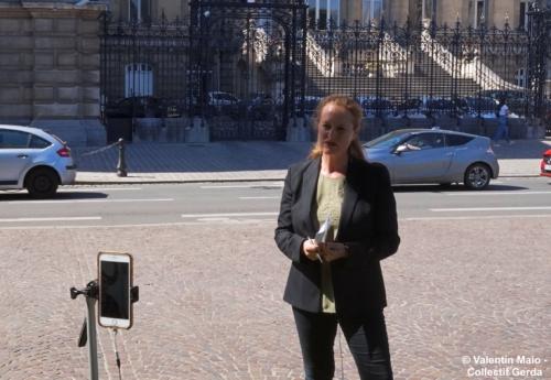 Violette Spillebout tenait un point presse après avoir déposé sa liste pour deuxième tour des élections municipales à Lille Lille 29 mai 2020 3
