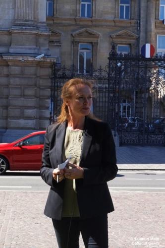 Violette Spillebout tenait un point presse après avoir déposé sa liste pour deuxième tour des élections municipales à Lille Lille 29 mai 2020 4 scaled