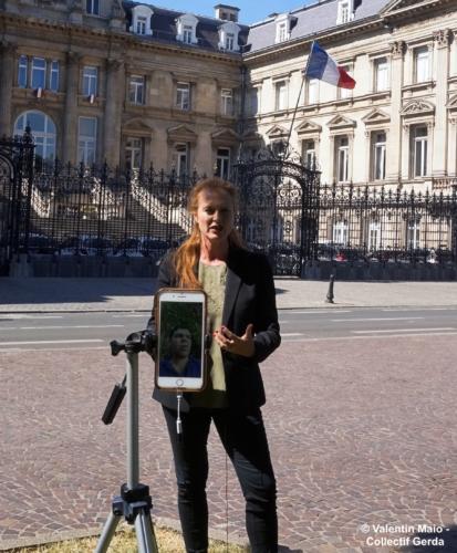 Violette Spillebout tenait un point presse après avoir déposé sa liste pour deuxième tour des élections municipales à Lille Lille 29 mai 2020 5