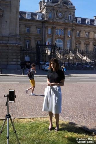 Violette Spillebout tenait un point presse après avoir déposé sa liste pour deuxième tour des élections municipales à Lille Lille 29 mai 2020 6 scaled