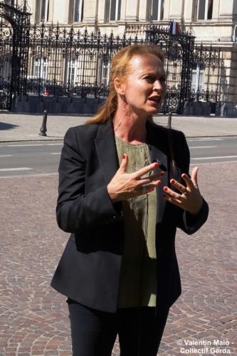 Violette Spillebout tenait un point presse après avoir déposé sa liste pour deuxième tour des élections municipales à Lille Lille 29 mai 2020 8
