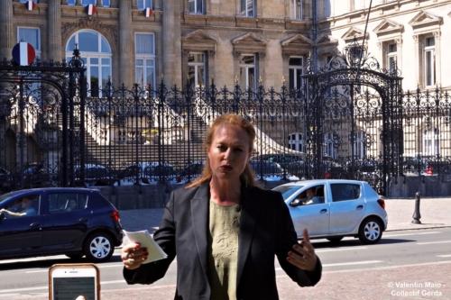 Violette Spillebout tenait un point presse après avoir déposé sa liste pour deuxième tour des élections municipales à Lille Lille 29 mai 2020 scaled