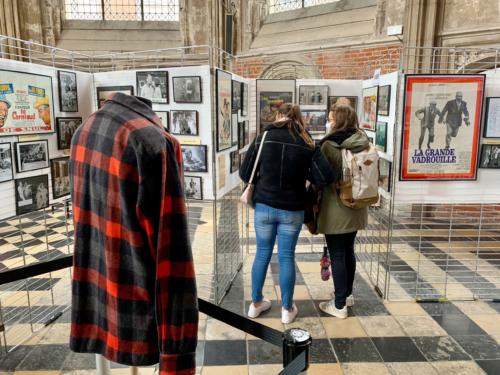 """En dehors du festival, l'exposition """"Le Cinéma de Bourvil"""" était présente au Palais Rihour de Lille"""
