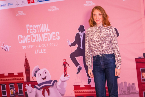 """C'est le film """"C'est la vie"""" de Julien Rambaldi qui a ouvert le festival mercredi soir, en présence de l'équipe du film, ici Sarah Stern"""