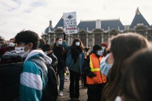 """Jérémy Paoloni, rassemblement contre la loi """"Sécurité Globale"""" à Lille"""